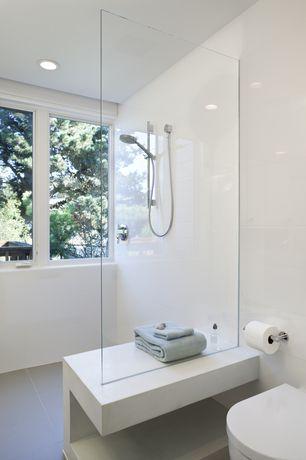 Modern Master Bathroom with Takla Porcelain Wall Tile - Scheme Series Bianco