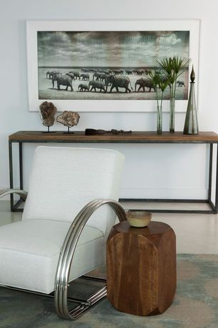 Contemporary Living Room with Home Styles Turn to Stone Console Table, Art Deco Kem Weber Lounge Chair