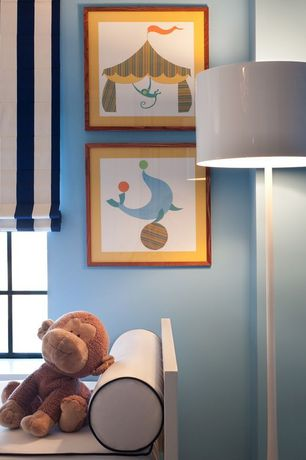 Contemporary Kids Bedroom with High ceiling, Oslo 1 Light Floor Lamp, Yo Backless Panel Daybed