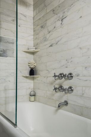 Traditional Full Bathroom with California faucets venice double handle wall mounte vessel lavaroty faucet, High ceiling