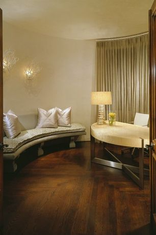 Contemporary Home Office with Hardwood floors, Currey & Company Eventide Wall Sconce, Eichholtz Table Lamp Captiva