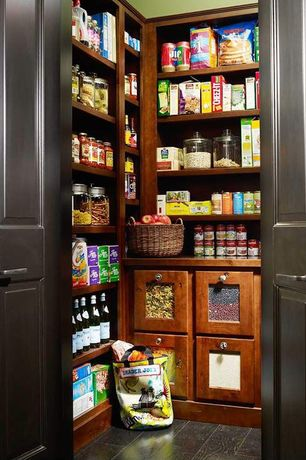 Traditional Pantry with Anchor Hocking Heritage Hill 1-Gallon Storage Jar, Paint 2, Custom built-in shelving, Paint 1
