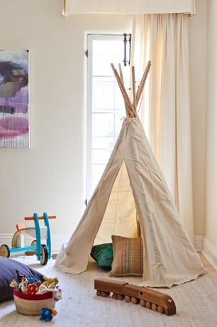 Contemporary Playroom with Teepee