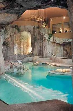 Eclectic Swimming Pool with exterior stone floors, Pathway, exterior tile floors, Indoor pool, Viking Free Form Pools