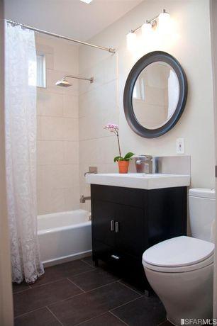 "Contemporary Full Bathroom with Norwell Lighting Maison 3 Light Bath Vanity Light, Lanza 30"" Single Bathroom Vanity Set"