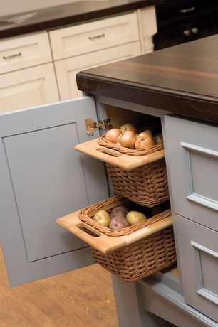 Contemporary Pantry with Brazilian cherry butcher block countertop - customize & order online