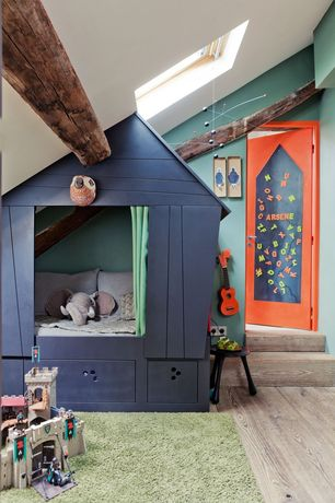 Contemporary Kids Bedroom with Paint 1, Paint 2, Paint 3