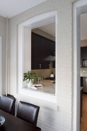 Modern Kitchen with High ceiling, Flush, Complex granite counters, European Cabinets, U-shaped, Breakfast nook, Ceramic Tile