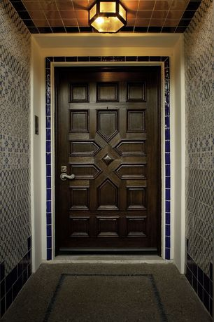 Eclectic Front Door with six panel door