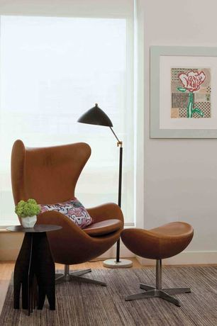 Contemporary Living Room with Kardiel egg chair & ottoman, Paint 1