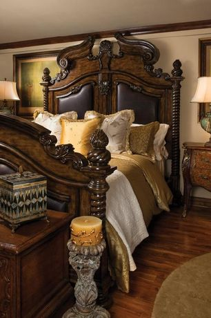 Traditional Master Bedroom with Margaux Three Drawer Bombe Chest, THE PALAIS ROYALE FORMAL BEDROOM COLLECTION