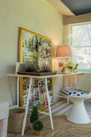 Eclectic Home Office with Art desk, Carpet