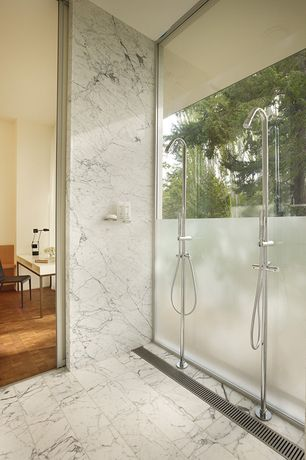 Contemporary Master Bathroom with CAVENDISH THERMOSTATIC FREESTANDING SHOWER WITH BRASS HAND SHOWER, Handheld showerhead