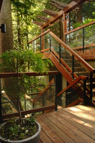 Traditional Deck with Deck Railing, Trellis