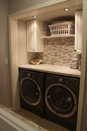 Laundry Room Undermount Sinks : Contemporary Laundry Room with Undermount sink, Eased edge granite ...