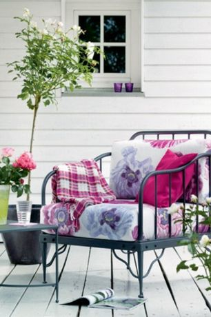 Eclectic Deck with Paint 1, Floral outdoor cushion, Outdoor seating, Tribu mood art. 06202, Throw pillow, Provence style