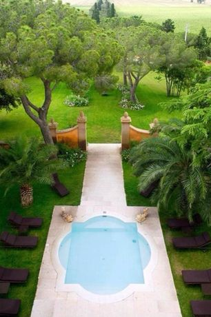 Tropical Swimming Pool with Pathway, exterior concrete tile floors, Fence, Other Pool Type, exterior tile floors