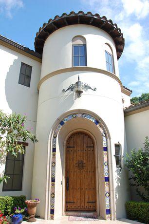 Eclectic Front Door with six panel door, Casement