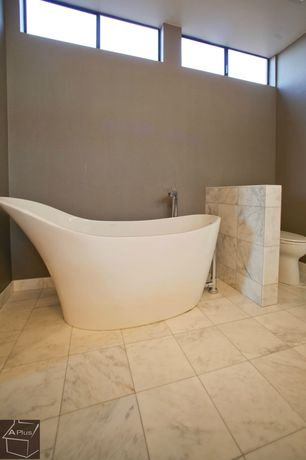"""Contemporary Master Bathroom with Freestanding, Master bathroom, Hansgrohe Axor Massaud Freestanding Tub Filler 33-3/8"""""""