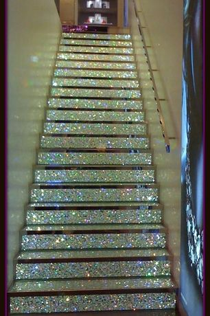 Eclectic Staircase with quartz floors, Floating staircase, Swarovski Crystal Staircase - Champs Elysees, High ceiling