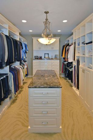 Traditional Closet with Chandelier, Carpet, Marren Picture Frame - Espresso, Built-in bookshelf