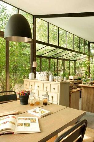 Eclectic Porch with Sun room, Screened porch, Enclosed porch, exterior tile floors