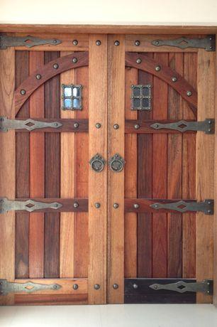 Rustic Front Door with Chaparral, Barn door, Custom doors
