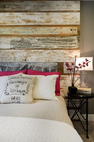 Contemporary Kids Bedroom with JNMRustic Designs Reclaimed Wood Queen Headboard, Carpet
