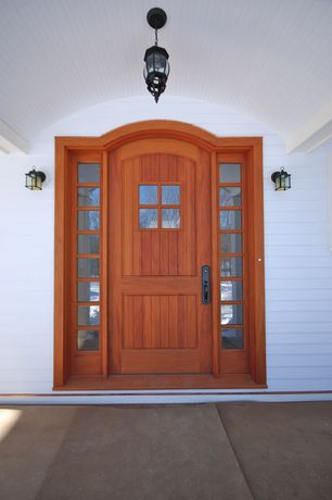 Traditional Front Door with exterior tile floors