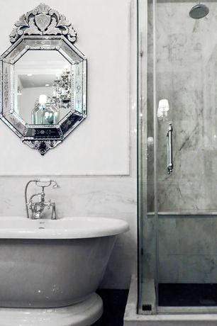 Traditional Master Bathroom with Venetian Gems Angela Large Venetian Wall Mirror, Signature Hardware Deck Mount Tub Faucet