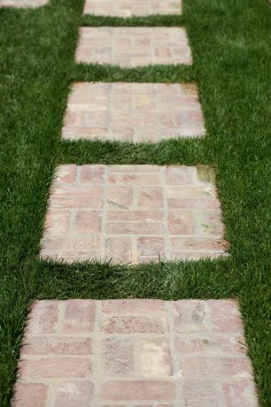 Traditional Landscape/Yard with exterior brick floors, Pathway