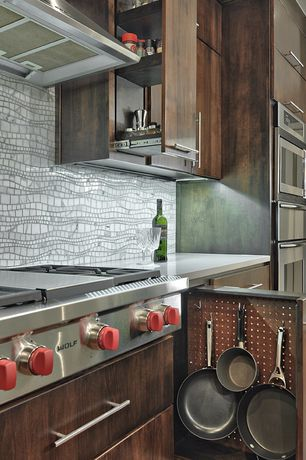 """Eclectic Kitchen with 36"""" SEALED BURNER RANGETOP - 4 BURNERS AND INFRARED GRIDDLE"""