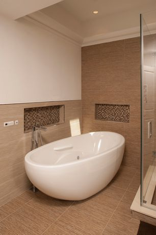 Contemporary Master Bathroom with Paint, Master bathroom, High ceiling, Shower, Instant mosaic - natural stone wall tile