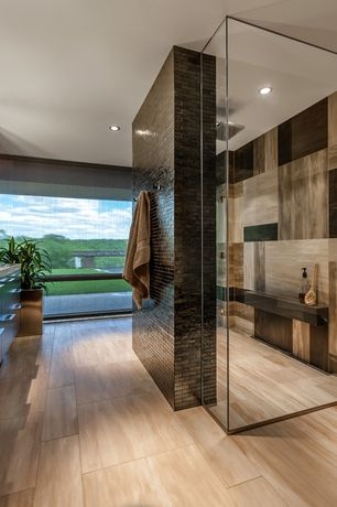 Contemporary Master Bathroom with Flush, Soapstone counters, Soapstone, Rain shower, European Cabinets, Master bathroom