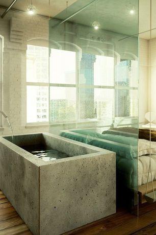 "Modern Master Bathroom with Alfi ABC3219-CO 32"" x 19"" Single Bowl Concrete / Cement Farm / Apron Sink Concrete"
