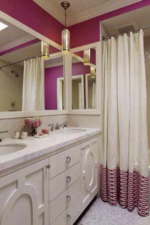 Traditional Full Bathroom with full backsplash, Bathtub, can lights, Standard height, Pendant light, tiled wall showerbath