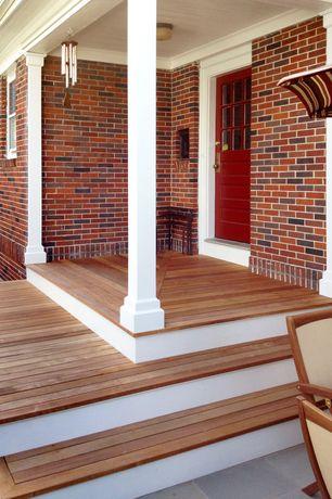 Country Front Door with exterior stone floors, double-hung window, Pathway, Glass panel door