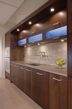 Modern Kitchen with LG Hausys HI-MACS-Solid Surface Countertop in Cream