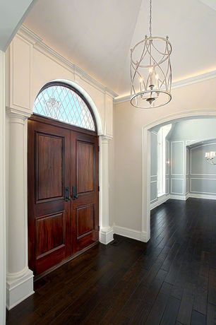 Traditional Entryway with Double wood door, Paint 2, Country french door collection dbyd-2434, Hardwood floors, Paint 1