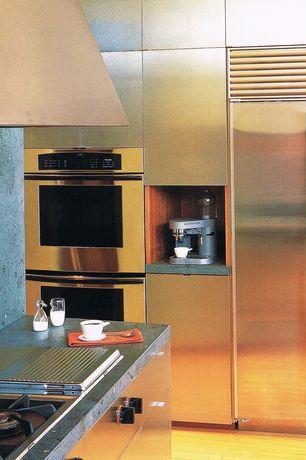 Contemporary Kitchen with Sub-zero refrigerators BI36SSPH, European Cabinets, Flush, L-shaped, Quartz, Quartz counters