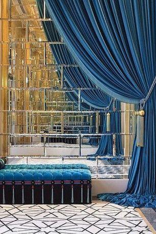 Art Deco Entryway with High ceiling, complex marble floors, Czar Floors Custom Design Floor, Etch Master Beveled Mirror