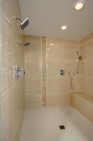 Contemporary 3/4 Bathroom with Daltile Mosaic Traditions in Zen Escape, Arizona tile eramosa sand porcelain