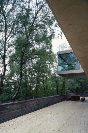 Modern Patio with exterior stone floors