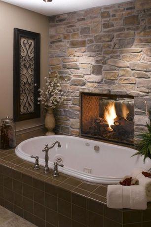 Rustic Master Bathroom with Glacier Bay - Lyndhurst Series 8 in. Widespread 2-Handle High-Arc Bathroom Faucet