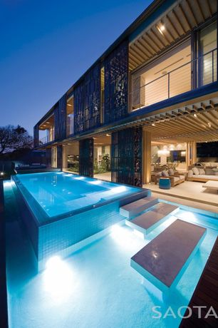 Modern Swimming Pool with Fence