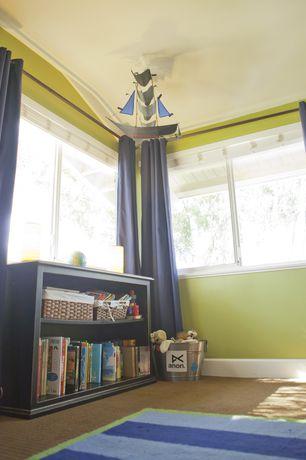 Modern Kids Bedroom with Casement, Crown molding, no bedroom feature, Standard height, Carpet