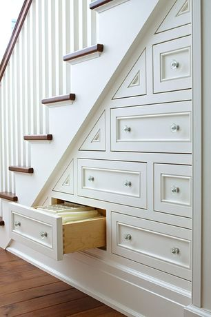 """Traditional Staircase with Amerock bp55268cg10 satin nickel knobs traditional classics 1"""", Under stair storage, Storage"""