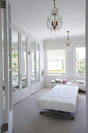 Traditional Closet with Croscill rose garden boudoir pillow, Chandelier, D'kei 3 letter 12 x 24 in. monogram graphics pillow