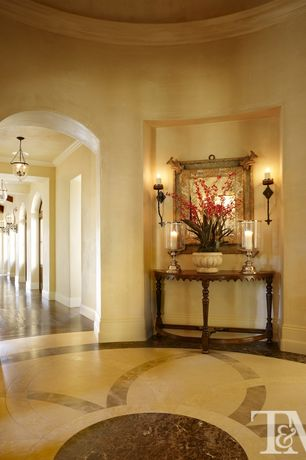 Traditional Entryway with simple marble floors, Capital lighting river crest 1 light wall sconce, High ceiling, Crown molding