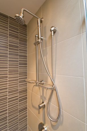 "Contemporary 3/4 Bathroom with Florim isa urban landscape porcelain tile - silver lake 12"" x 24"""